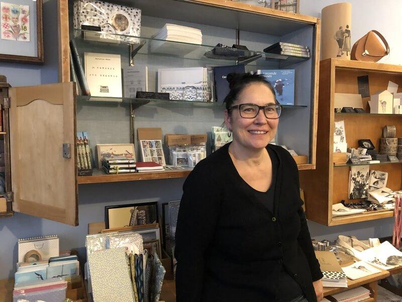 Yvonne Portmann, graphiste et boutiquière
